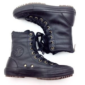 Converse Black Lace Up Ankle Boots 7
